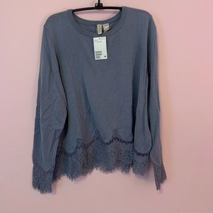 NWT Divided Lace Sweater